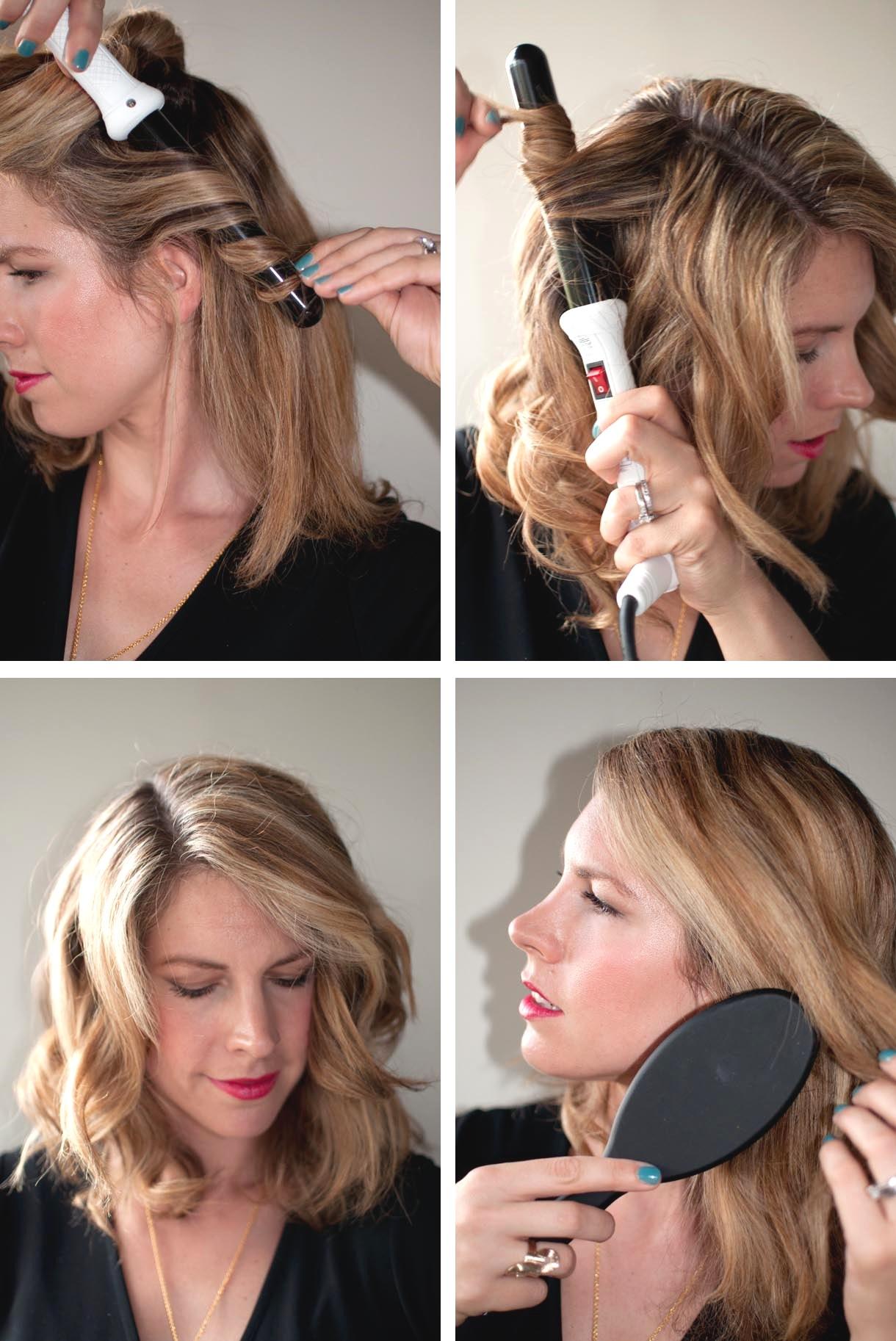 Как сделать красивую укладку на средние волосы с плойкой