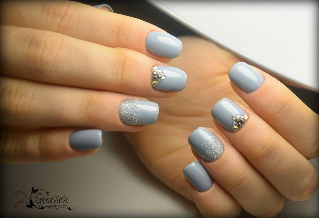Серый дизайн ногтей гель лаками 84