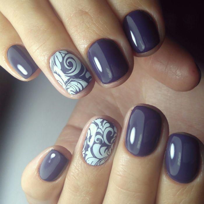 Оформление ногтей с рисунком