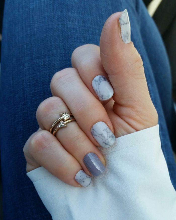 Серый дизайн ногтей гель лаками 51