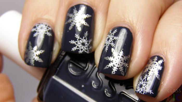 Маникюр снежинки: пошаговые фото с идеями