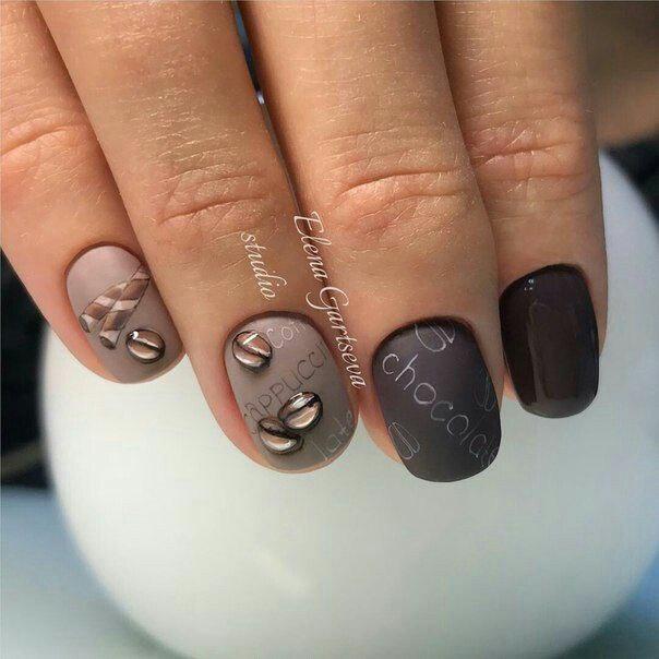 Кофейно-шоколадный маникюр