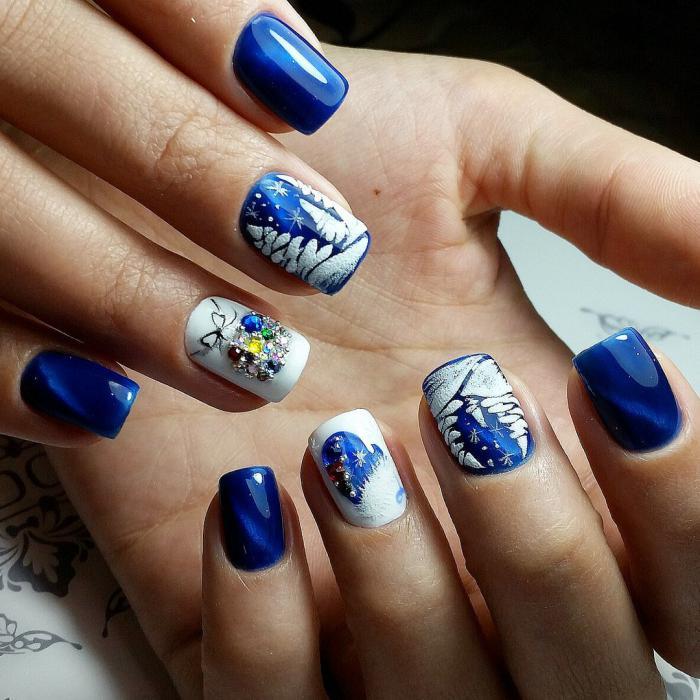 """Примеры дизайна ногтей гель-лаками """"кошачий глаз"""""""