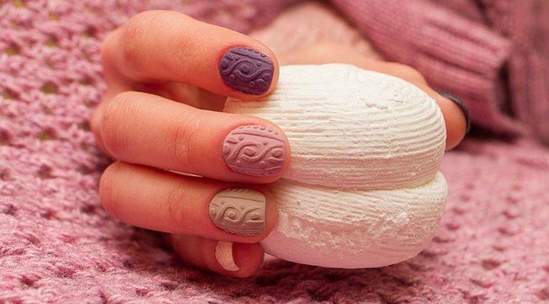 Красивый вязаный маникюр 2019-2020 года, фото, идеи, дизайн ногтей в стиле вязаного свитера