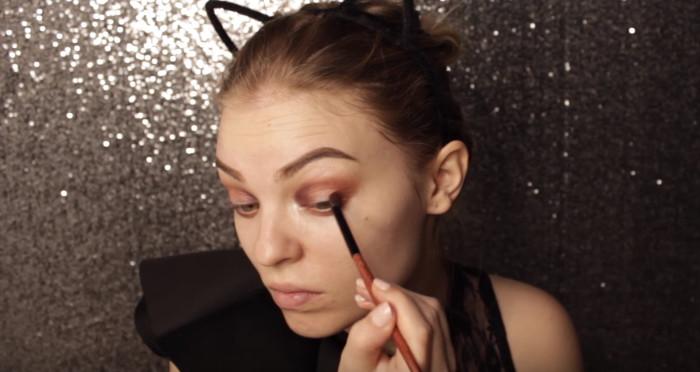 Маникюр на Новый год пошаговая инструкция с фото: макияж глаз