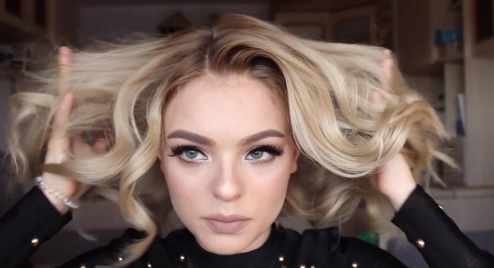 Укладка на Новый год 2018 на средние волосы: пошаговое фото