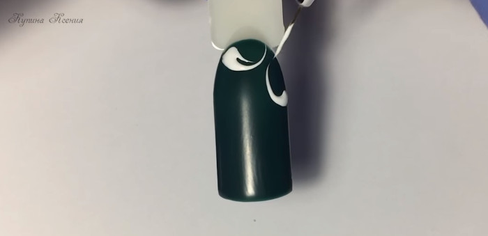 Вензеля на ногтях. Пошаговый фото-урок № 1