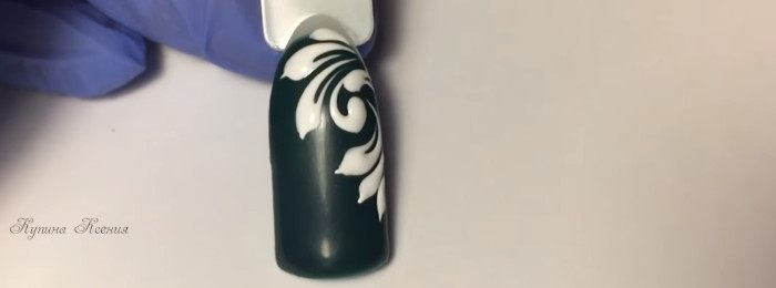 Вензеля на ногтях. Дизайн № 2
