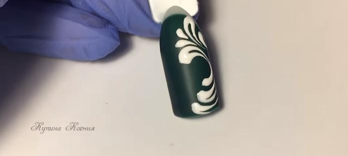 Вензеля на ногтях. Пошаговый фото-урок № 3