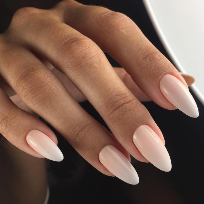 Миндалевидная форма ногтей: дизайн