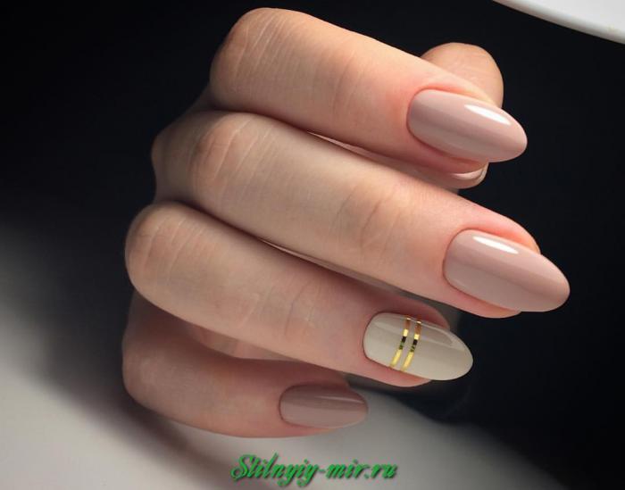 Дизайн ногтей округлой формы