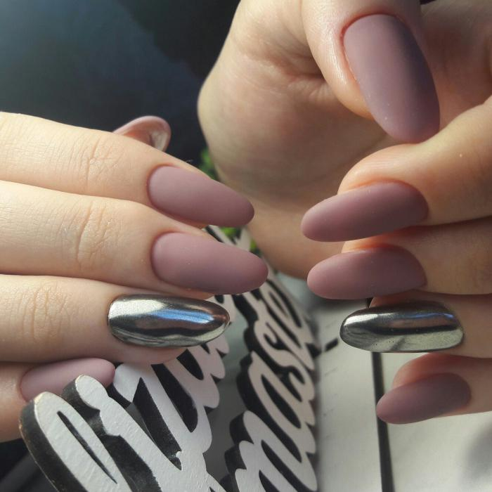 Миндалевидная форма ногтей: фото с дизайном втирка