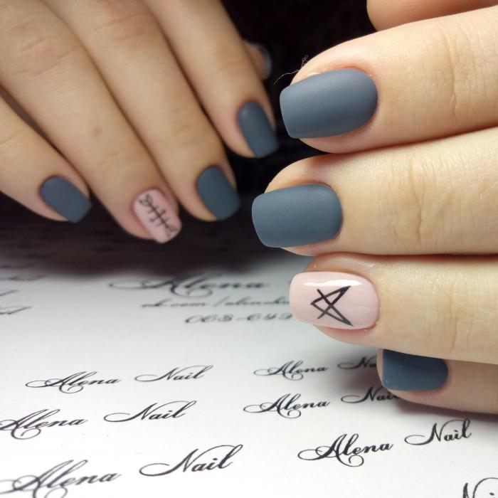 Френч с дизайном на квадратных ногтях фото