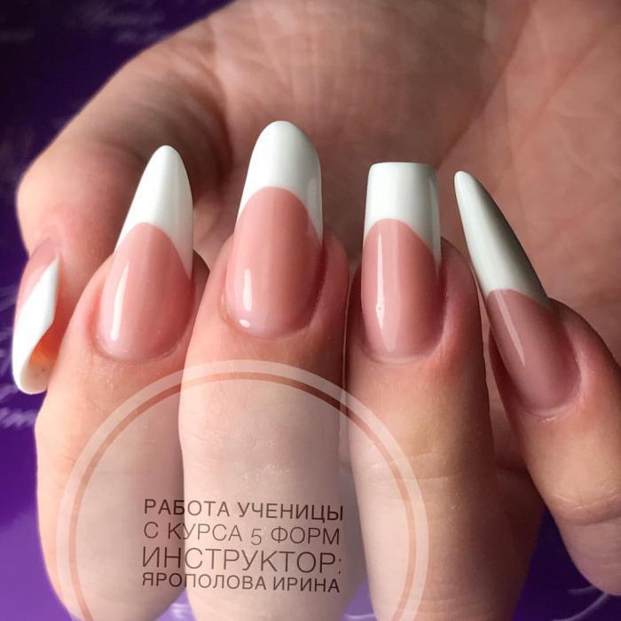 Как придать форму ногтям в