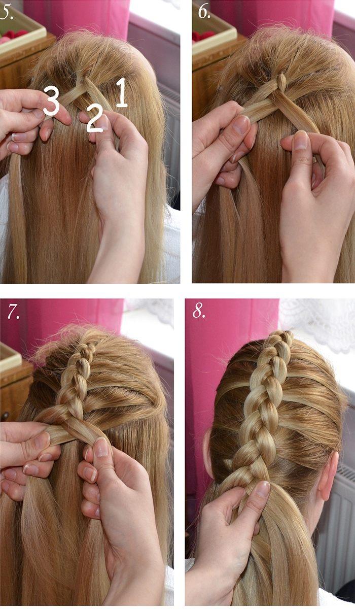 Плетение красивых кос пошагово. Плетение кос видео уроки для начинающих