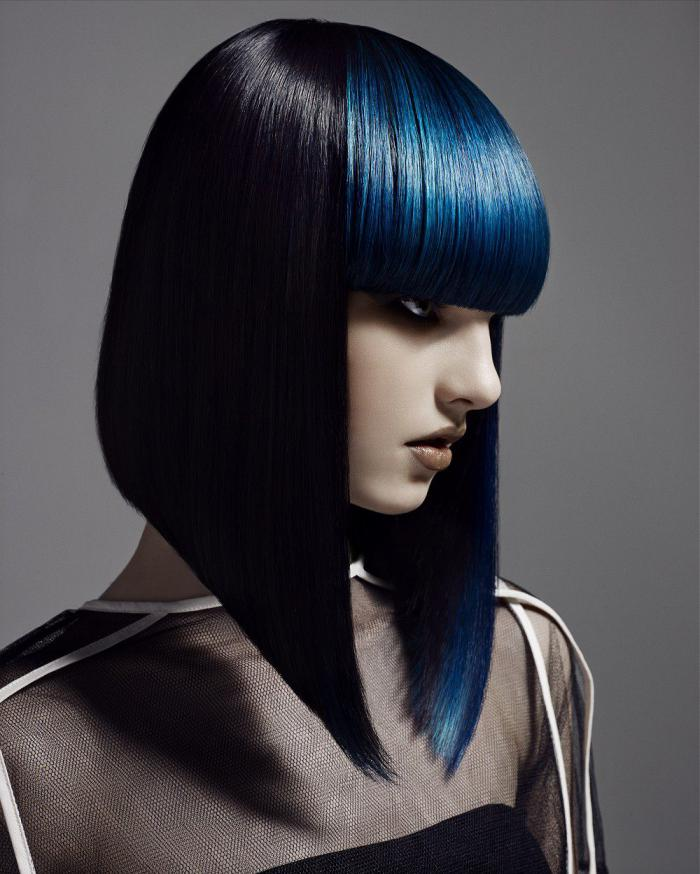 Креативное каре на средние волосы