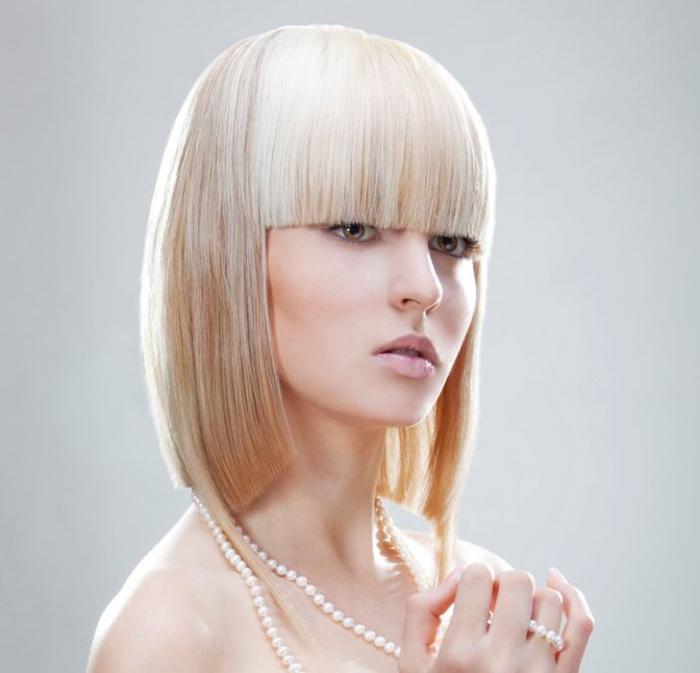 Стильные стрижки для средних волос