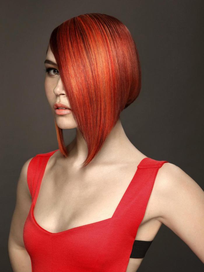 Модные короткие стрижки на красные и рыжие волосы