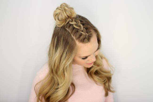 Прически с косами на длинные волосы