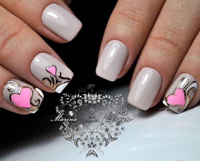 Дизайн ногтей закругленной формы 43