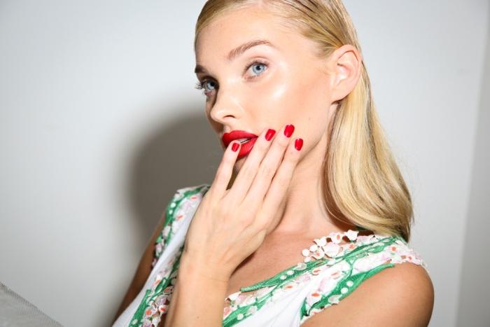 Модный макияж 2018 с акцентом на губы