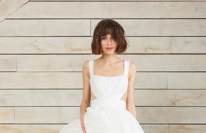 Свадебная прическа 2018 на стрижку каре