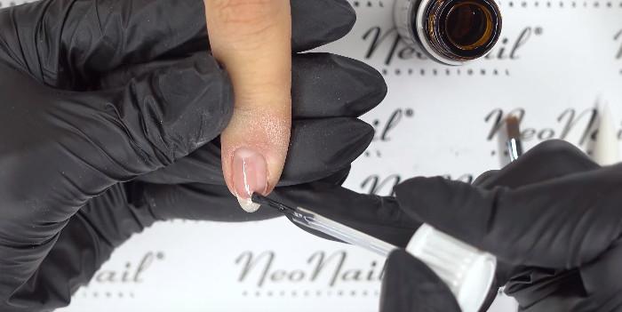 Пошаговое фото к инструкции по укреплению ногтей гелем под гель-лак