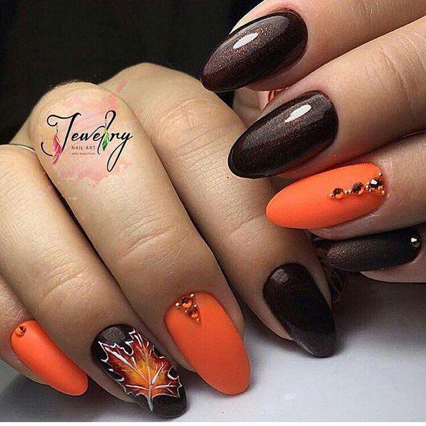Оранжевый маникюр – 60 дизайнов в оранжевом цвете