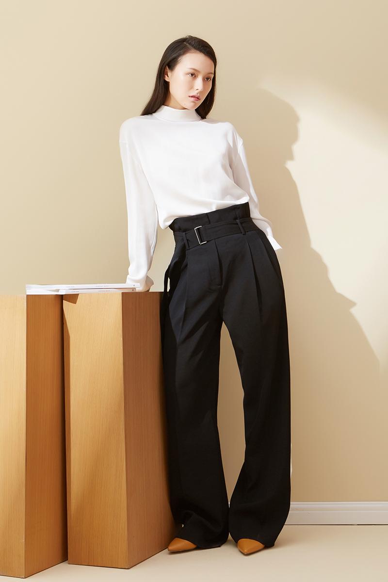 Модные брюки с завышенной талией LER