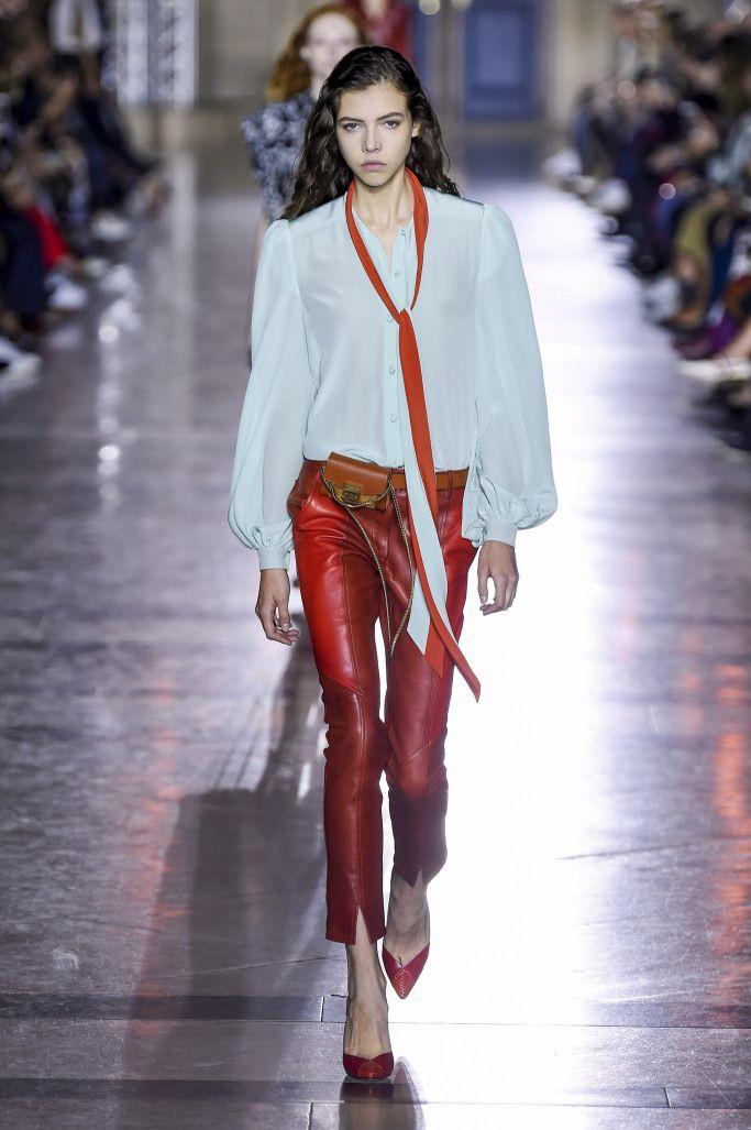 Модные кожаные брюки