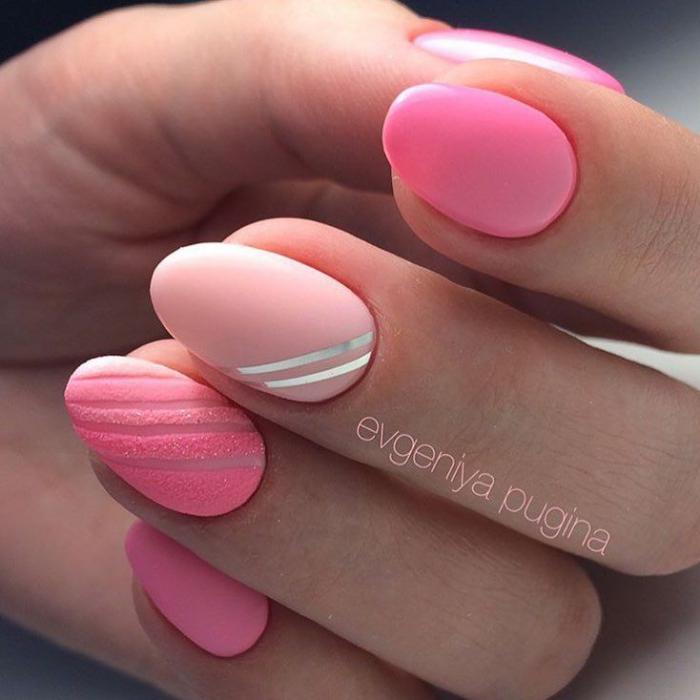 Дизайн из песка с рисунком на ногтях 963