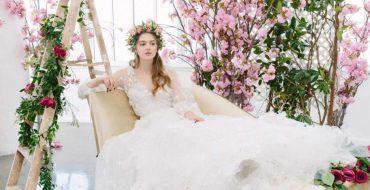 Модные свадебные платья с рукавами