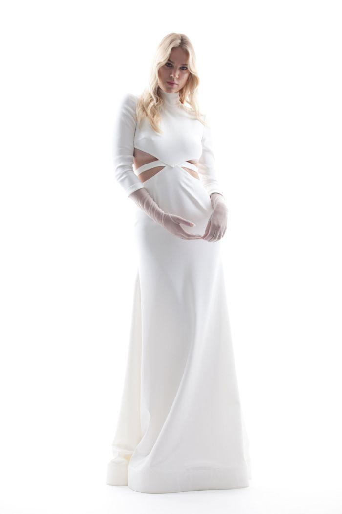 Лаконичные фасоны платьев невесты с рукавом
