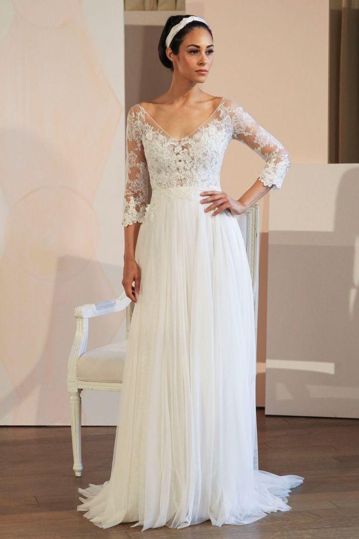 Свадебные платья А-силуэта с рукавом