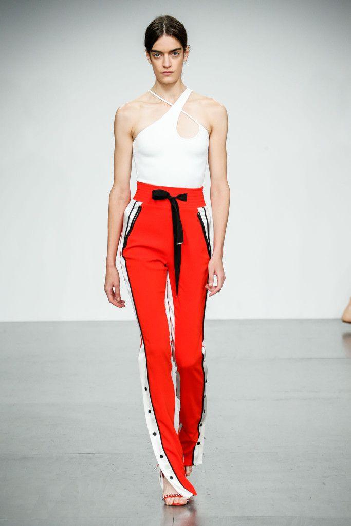 Модные летние брюки с лампасами