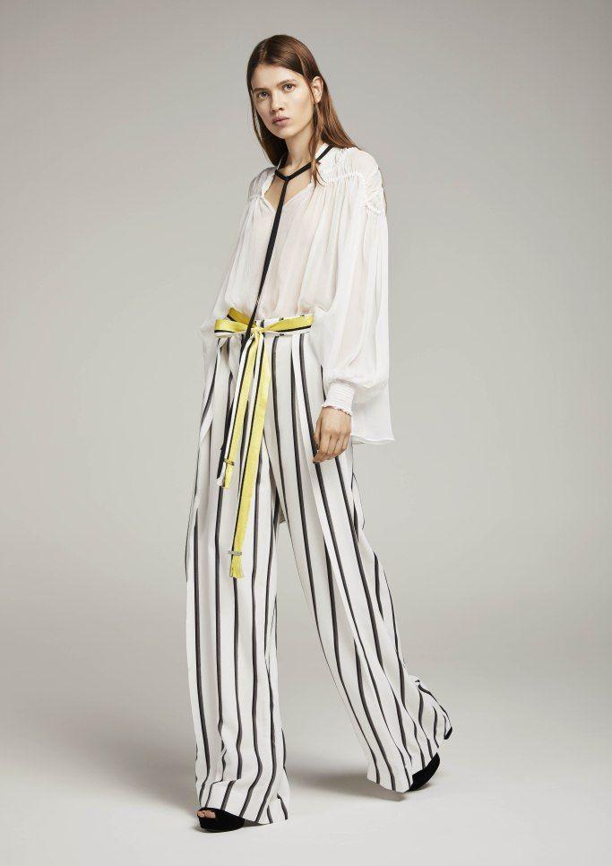Полосатые летние брюки