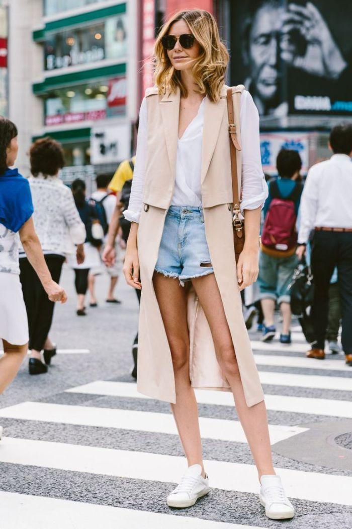 Модный лук с летними шортами
