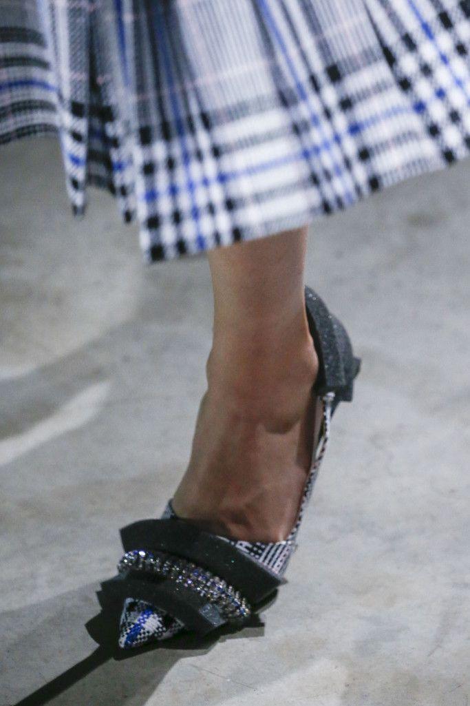 Модные туфли в клетку