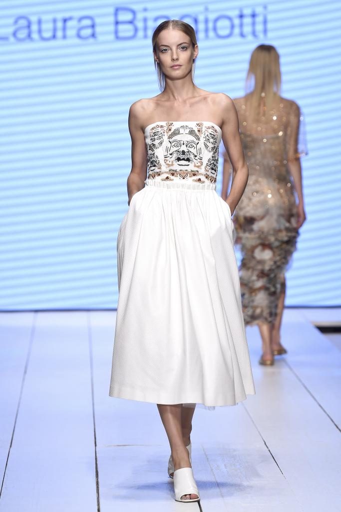 Свадебное пляжное платье Laura Biagiotti