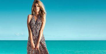 Модное пляжное платье