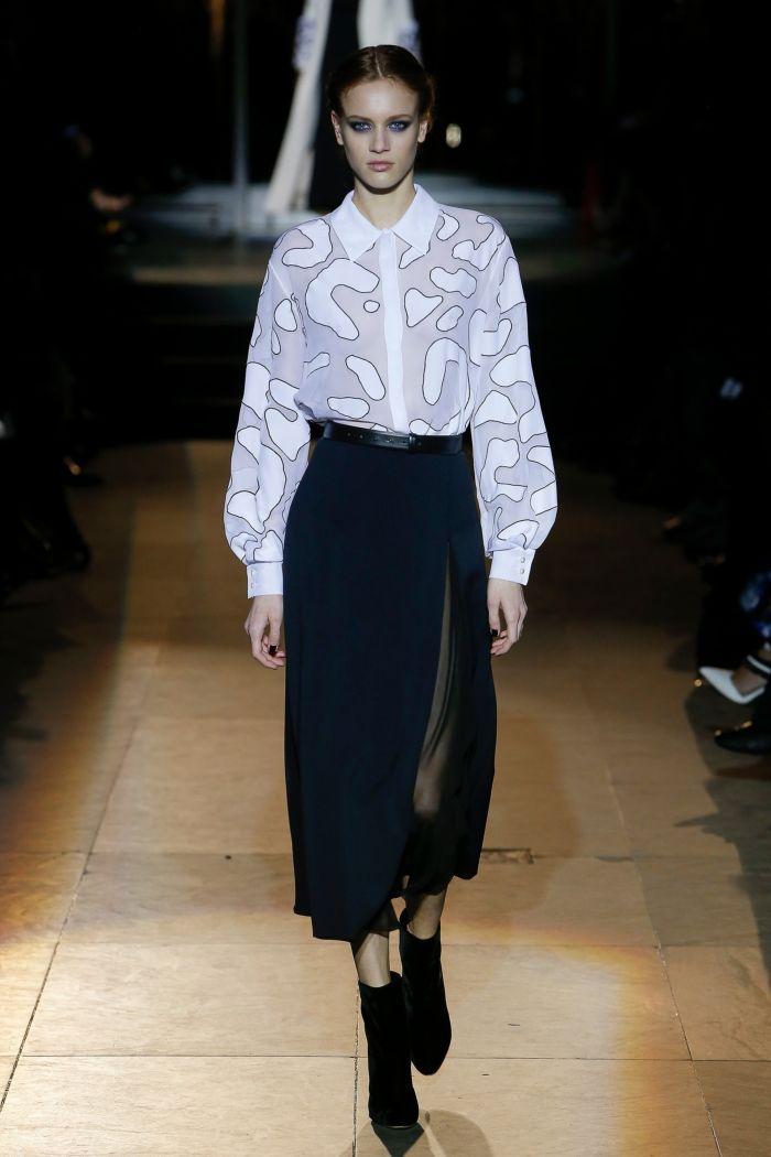 Модные цвета женских юбок осень-зима Carolina Herrera