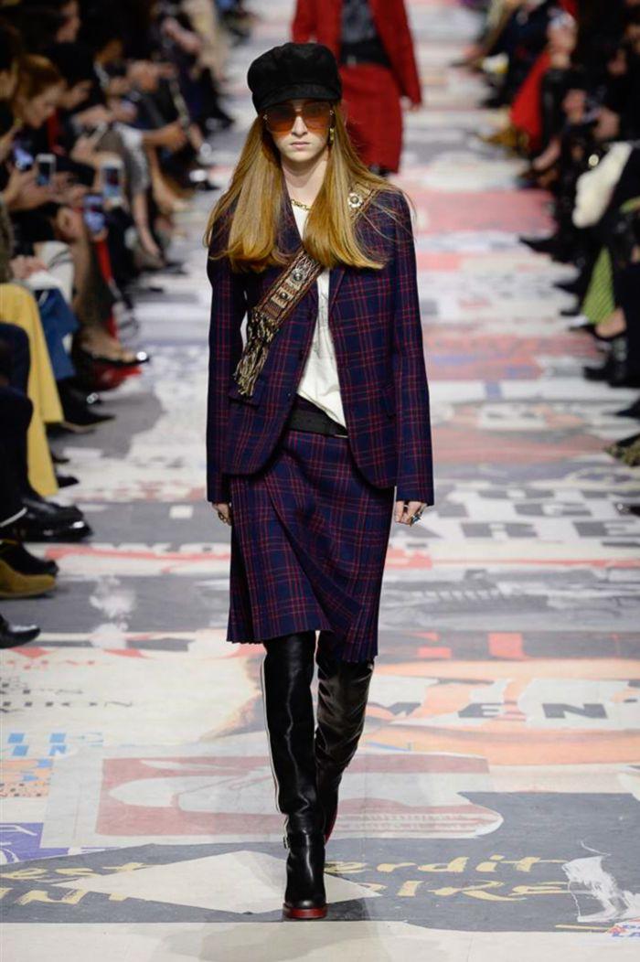 Модная женская юбка осень-зима Christian Dior