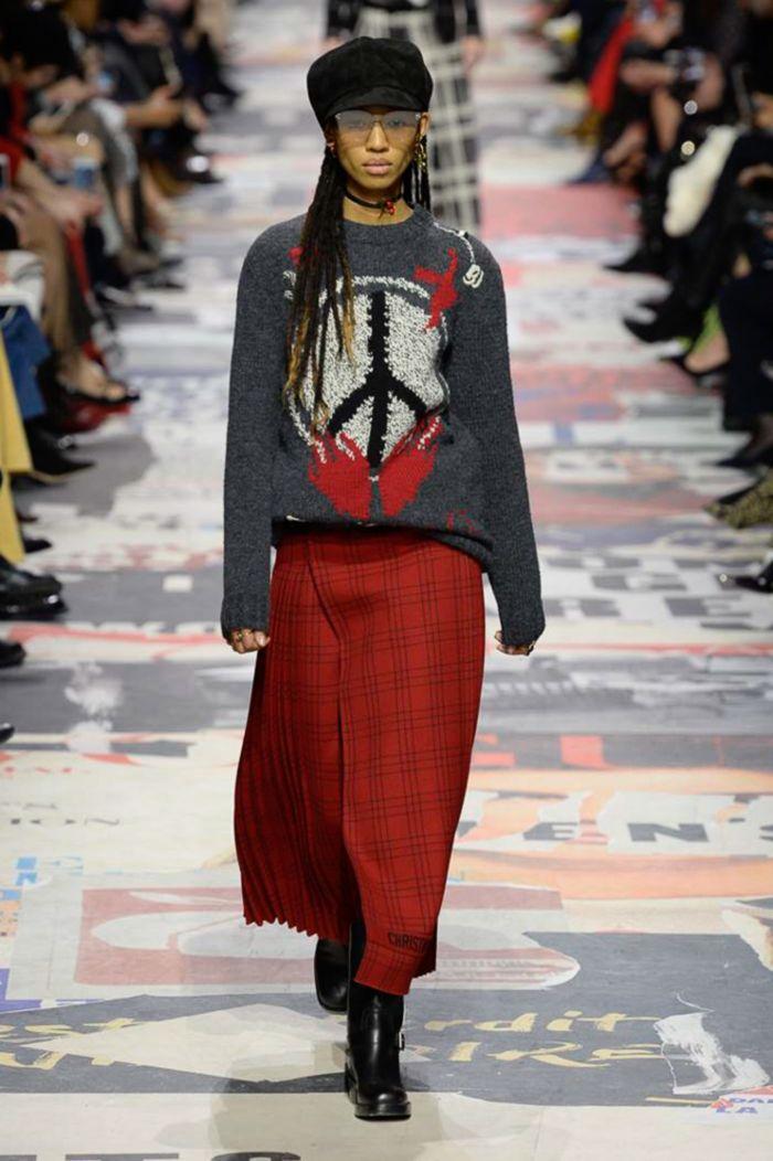 Модная юбка Christian Dior
