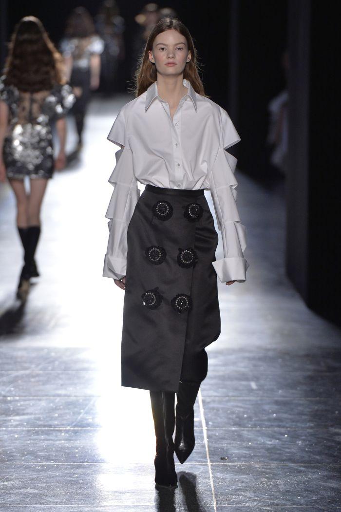 Модные цвета женских юбок осень-зима Christopher Kane