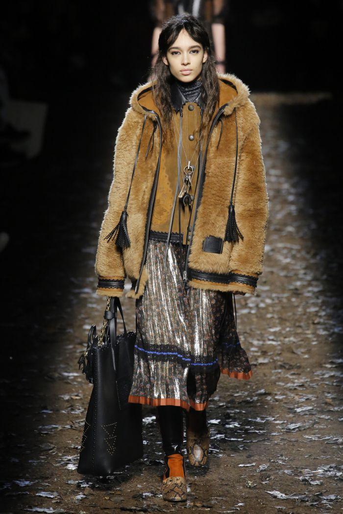 Модная женская юбка осень-зима Coach 1941