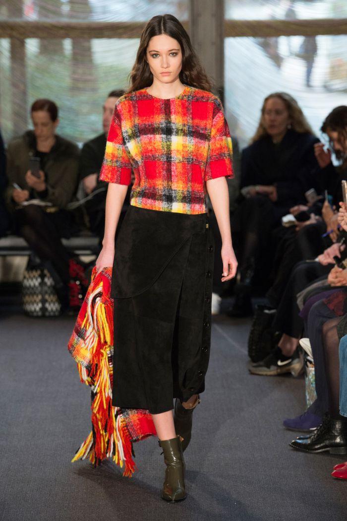 Модные цвета юбок осень-зима Derek Lam