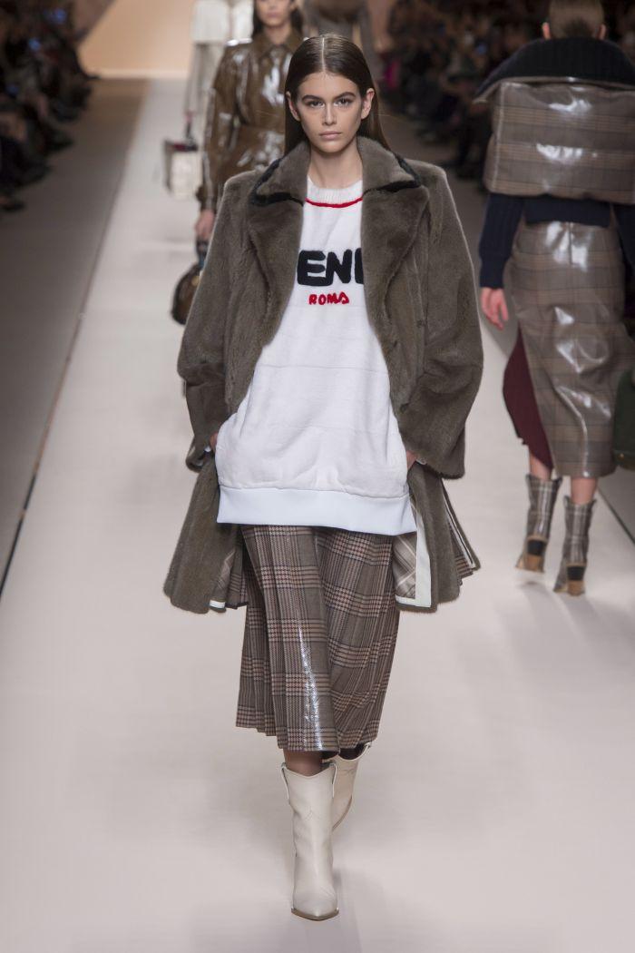 Модная женская юбка осень-зима Fendi