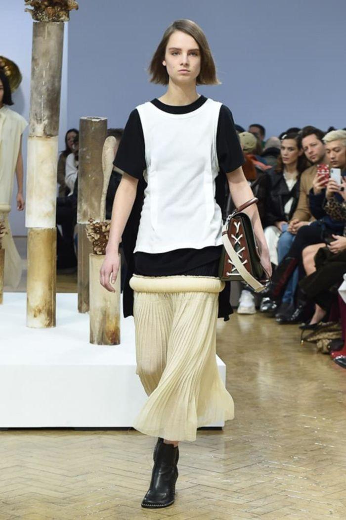 Модная женская юбка осень-зима J.W. Anderson