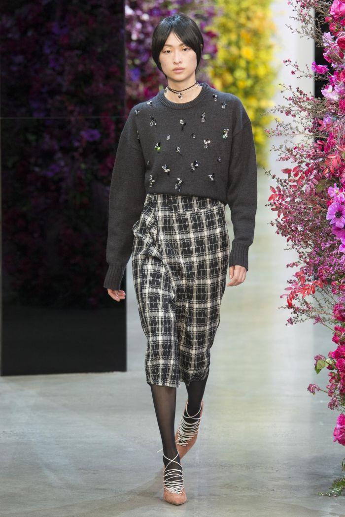 Модная женская юбка осень-зима Jason Wu