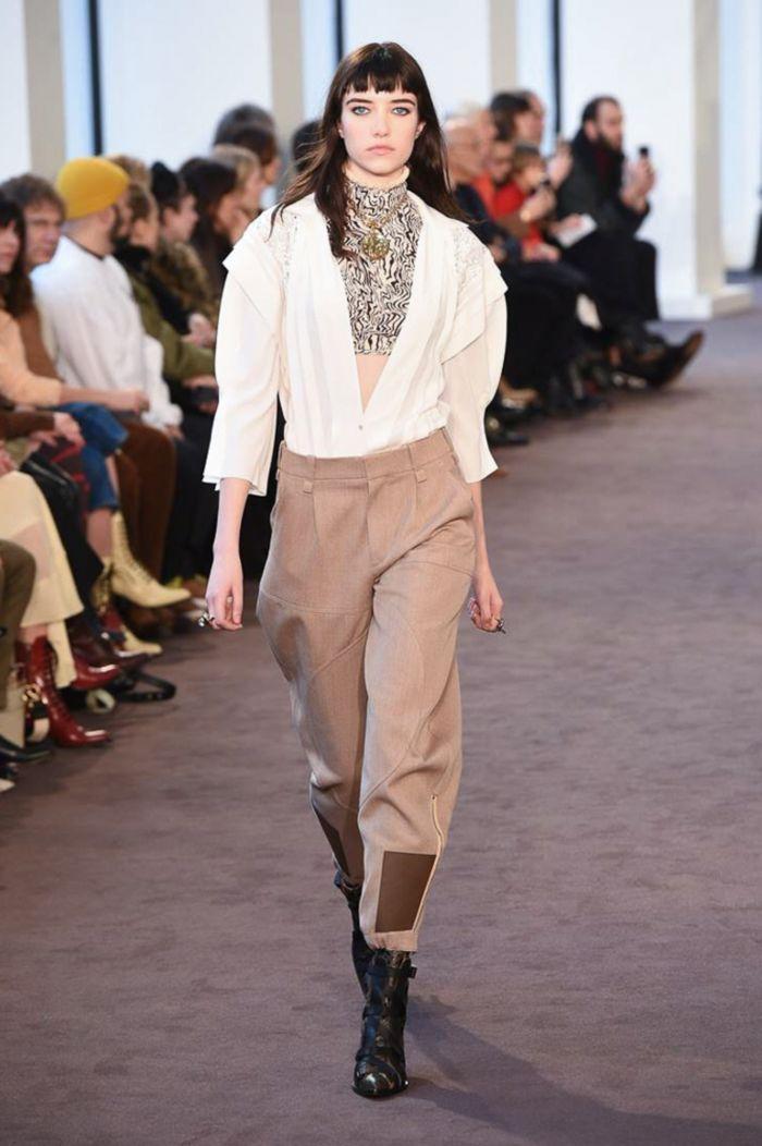 Модные женские брюки Chloé
